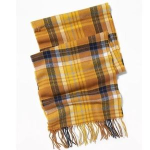 NEW Old Navy Yellow Plaid Scarf